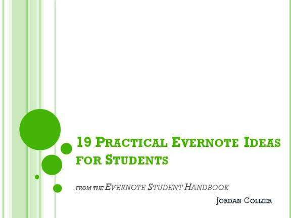 Free download: 19 Practical Evernote Ideas for Students | Evernote